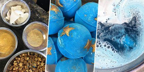 Blue, Colorfulness, Ingredient, World, Aqua, Electric blue, Recipe, Mixing bowl, Powder,