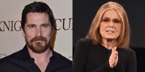 <p>Steinem is Bale's stepmother.</p>