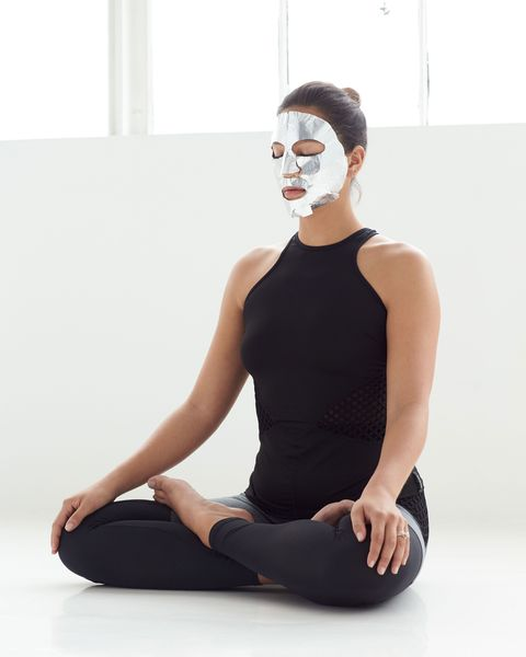 Meditation can help you get a better sleep life. Use a face mask at the same time.