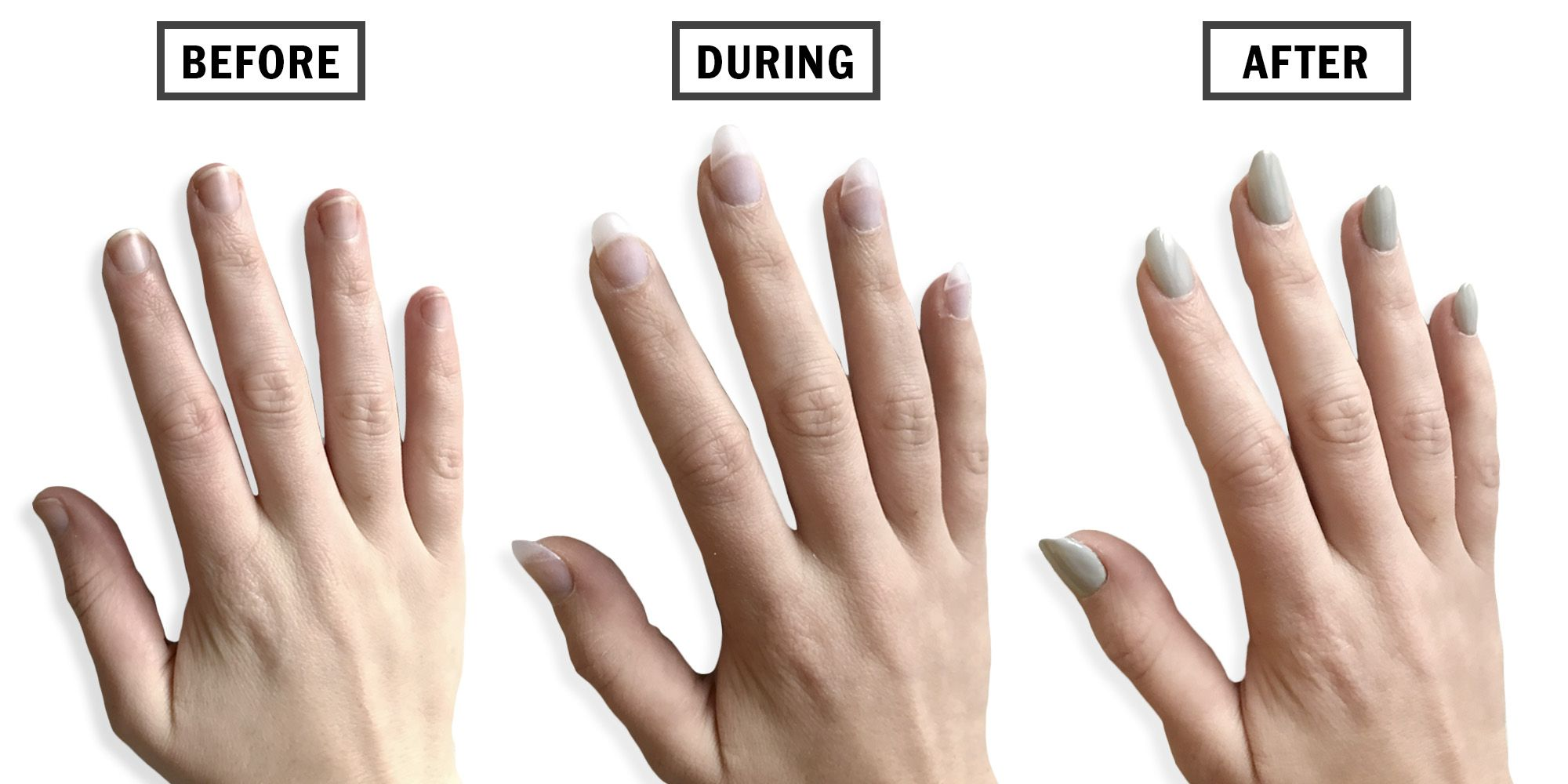 Nail Extensions Before And After