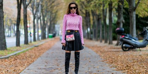 Brown, Textile, Scooter, Outerwear, Sunglasses, Pink, Style, Fender, Street fashion, Fashion accessory,