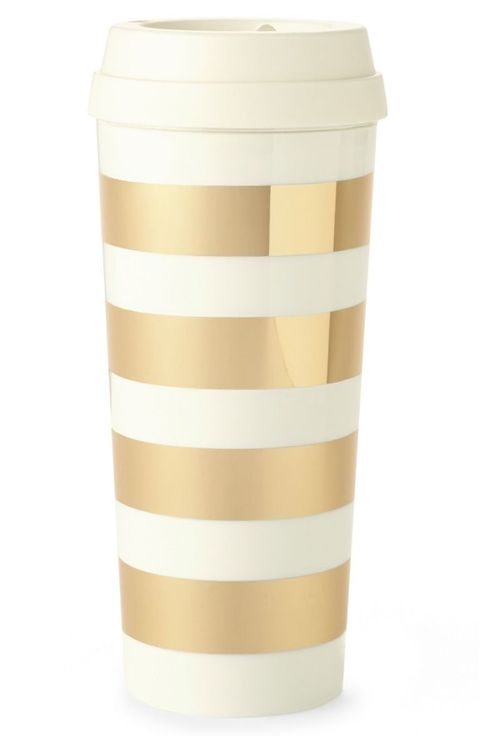 "<p>A gilded step up from the standard to-go cup.</p>  <p><em data-redactor-tag=""em"" data-verified=""redactor"">Kate Spade thermal mug, $18, </em><a href=""http://shop.nordstrom.com/s/kate-spade-new-york-gold-stripe-thermal-mug/4094763?&amp;cm_mmc=Mindshare_Nordstrom-_-DecemberBrand-_-Hearst-_-proactive"" target=""_blank"" data-tracking-id=""recirc-text-link""><em data-redactor-tag=""em"" data-verified=""redactor"" data-tracking-id=""recirc-text-link"">nordstrom.com</em></a></p>"