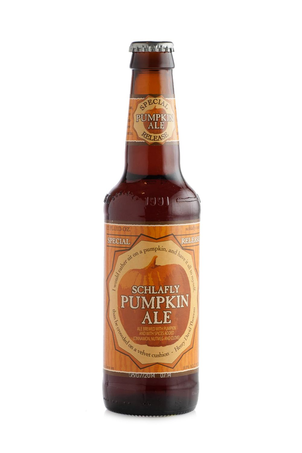 "<p>""If you ask any beverage manager what the most popular pumpkin beer they've sold is, it's very likely they'll say Schlafly Pumpkin. It hits all the right notes for a fall beer: Earthy pumpkin, roasty malt back bone, and spicy cinnamon, nutmeg, and clove all come together in just the right amounts to create a perfectly autumnal palate experience. It's so broadly appealing that I consider it to be a 'gateway pumpkin beer.'<span class=""redactor-invisible-space"" data-verified=""redactor"" data-redactor-tag=""span"" data-redactor-class=""redactor-invisible-space"">""</span></p>"