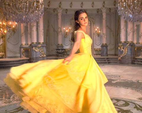 Clothing, Lighting, Yellow, Dress, Textile, Gown, Interior design, Formal wear, Light fixture, Style,