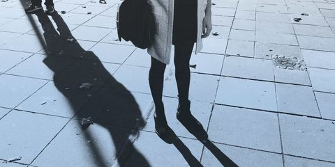 Shadow, Monochrome, Black-and-white, Walking, Ankle,