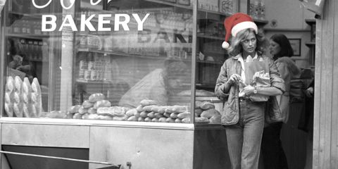 Monochrome, Black-and-white, Monochrome photography, Staple food, Snack, Holiday, Street food, Retail, Fast food, Baked goods,