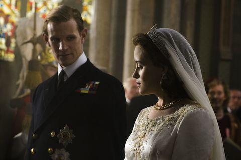 Clothing, Bridal veil, Collar, Veil, Bridal clothing, Coat, Photograph, Outerwear, Suit, Bridal accessory,