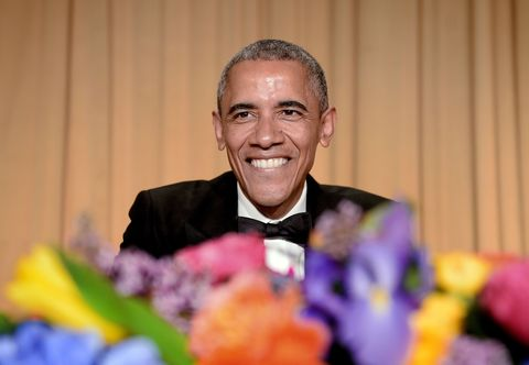 Happy, Facial expression, Formal wear, Tooth, Laugh, Pleased, Ceremony, Buzz cut, Humour, Artificial flower,