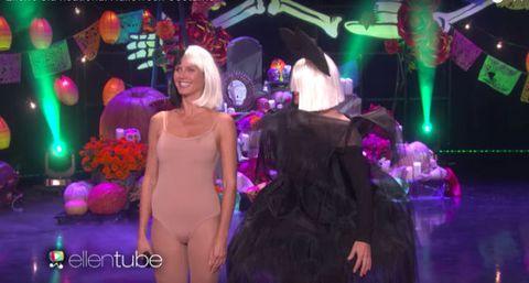 Ellen and Heidi Klum channel Sia for Halloween