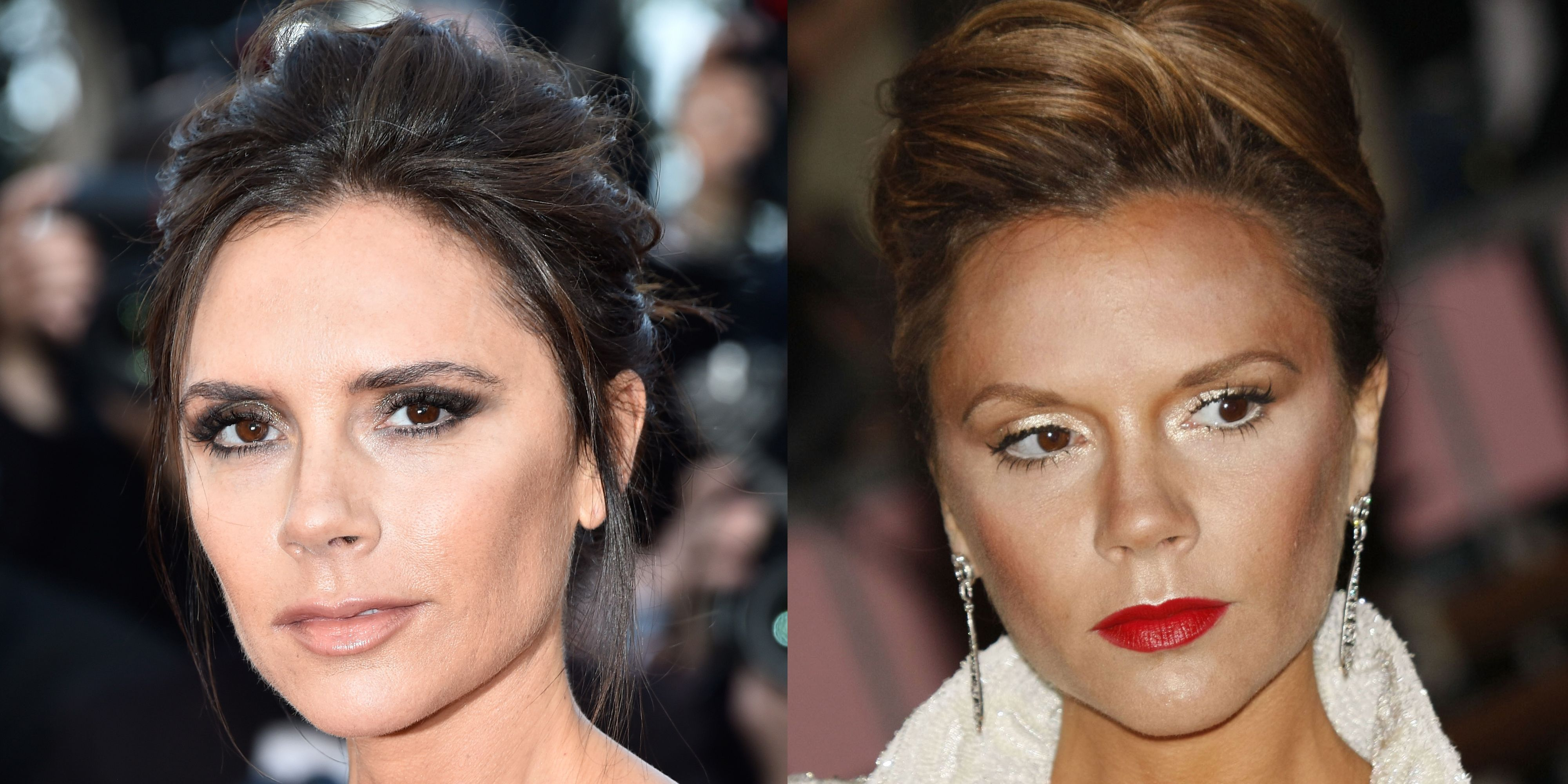 <p>Her M.O. might be smoky eyes and a nude lip, but for the 2008 Met Gala (theme: superheroes), VB turned up in with an uncharacteristically red mouth and bright eyes. Alter ego, indeed.</p>