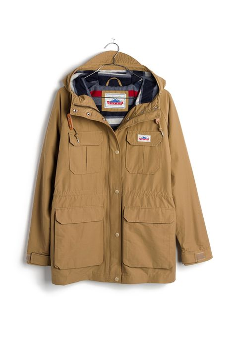 "<p>This Madewell collab with Penfield (a Massachusetts-based company that makes legit outdoor goodies) produced pretty much the perfect Parka: a heritage-inspired pick with fleece-lined pockets and a bold striped lining that looks good on and off a trail.&nbsp;</p><p><strong data-redactor-tag=""strong"" data-verified=""redactor"">Madewell x Penfield Kasson Parka in Tan, $200; </strong><a href=""https://www.madewell.com/madewell_category/JACKETSANDOUTERWEAR/Jackets/PRDOVR~F5972/F5972.jsp"" target=""_blank"" data-tracking-id=""recirc-text-link""><strong data-redactor-tag=""strong"" data-verified=""redactor"">madewell.com</strong></a></p>"