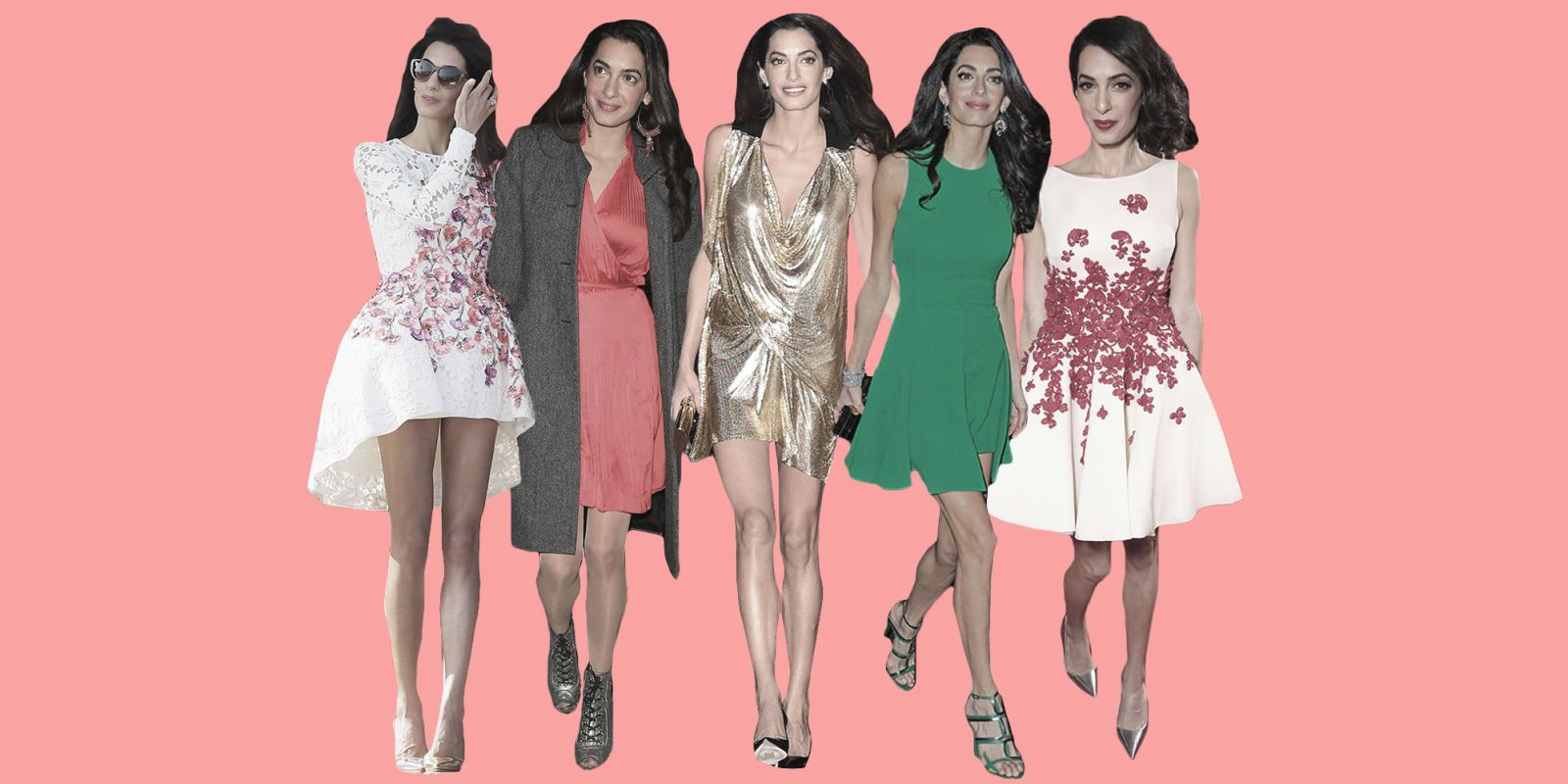 photo The Amal Clooney beauty look book