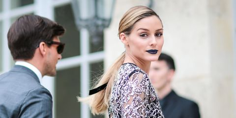 <p>During Paris Fashion Week, Palermo went edgier than ever before with this deep navy shade.</p>