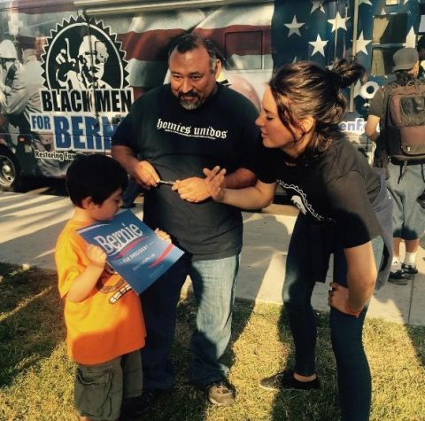 <p>Shailene Woodley was a big Bernie supporter and campaigned door-to-door&nbsp;ahead of the California primary.</p>