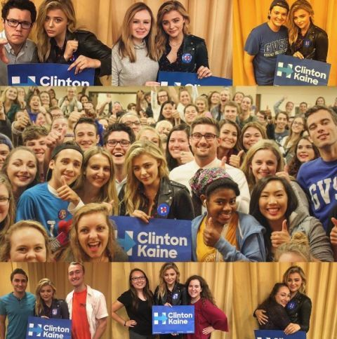 "<p>Chloë Grace Moretz<span class=""redactor-invisible-space"" data-verified=""redactor"" data-redactor-tag=""span"" data-redactor-class=""redactor-invisible-space""></span> is another celeb who's been an outspoken supporter of Hillary since the beginning. She doesn't just talk the talk though—she spent time in Michigan registering people to vote earlier this year.&nbsp;</p>"