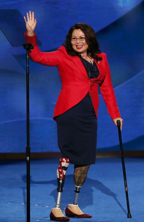 "<p>Yet another history making senator-elect: Duckworth will be the <a href=""http://www.cosmopolitan.com/politics/a8245262/tammy-duckworth-elected-illinois-senate/"" target=""_blank"" data-tracking-id=""recirc-text-link"">first Thai American woman</a> to serve in the Senate. Duckworth, a Democrat, is a <a href=""http://duckworth.house.gov/index.php/about-tammy/biography"" target=""_blank"" data-tracking-id=""recirc-text-link"">veteran of the Iraq War and in November 2004</a>, she lost her legs and partial use of her right arm when her helicopter was hit by a rocket-propelled grenade. She spent a year in recovery and was awarded a Purple Heart for her service. Duckworth has worked tirelessly on behalf of veterans affairs, including <a href=""http://duckworth.house.gov/index.php/issues/veterans-affairs"" target=""_blank"" data-tracking-id=""recirc-text-link"">creating a 24-hour crisis hotline</a> for veterans.</p>"