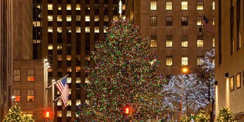 Lighting, Event, Christmas decoration, Winter, Flag, Holiday, Facade, Christmas tree, Woody plant, Christmas ornament,