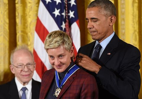 "<p>Not only is Ellen DeGeneres one of the most beloved talk show hosts around, but she's also a prolific and award-winning comedian and actress who has paved the way for LGBTQ people everywhere. She made TV history after her character on <em data-redactor-tag=""em"">Ellen</em> came out in 1997, and she's been fighting for equality every since.</p>"