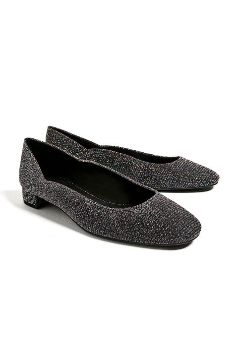"<p>The Lurex turtleneck of glove shoes.</p>  <p>$30, <a href=""http://www.zara.com/us/en/woman/shoes/flats/shiny-ballerinas-c269196p4205503.html"" target=""_blank"" data-tracking-id=""recirc-text-link"">zara.com</a>.</p>"