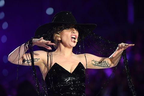 22d83a2b6 Lady Gaga Wears $1 Million Hat at Victoria's Secret Fashion Show