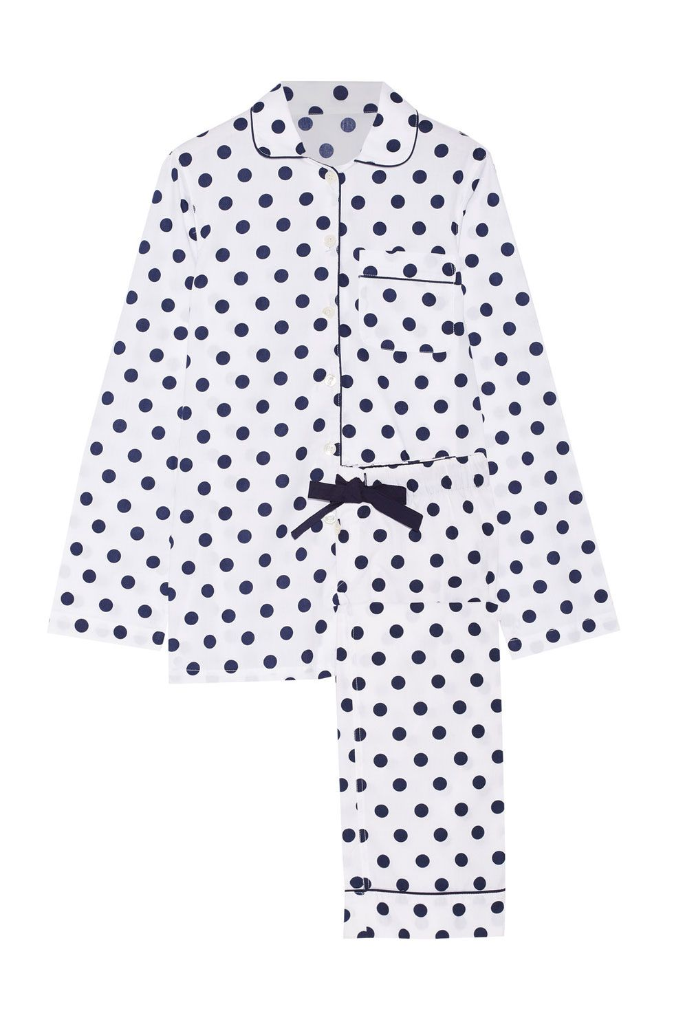 """<p>A mood-lifting polka-dot set that's on post-Black Friday sale *screams*. Swap out the pants for a pair of girlfriend jeans for a brunch date or a quick run to the grocery store. </p><p><strong data-redactor-tag=""""strong"""" data-verified=""""redactor"""">Three J NYC Polka-Dot Cotton Poplin Pajama Set, $91&#x3B; <a href=""""https://www.net-a-porter.com/us/en/product/738181/Three_J_NYC/jamie-polka-dot-cotton-poplin-pajama-set"""" target=""""_blank"""" data-tracking-id=""""recirc-text-link"""">net-a-porter.com</a>.</strong></p>"""