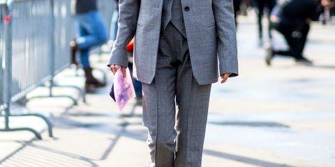 Clothing, Coat, Collar, Textile, Outerwear, Pocket, Street fashion, Blazer, Suit trousers, Button,