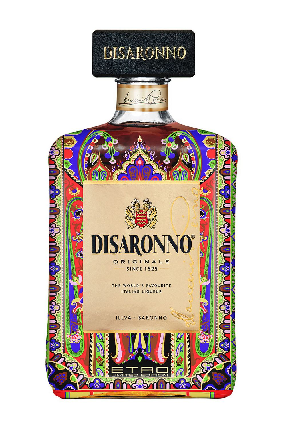 <p>The limited edition Disarrono x Etro collaboration is a definite *get* for your bar cart. (Pssst…the fashion designer collaboration is also available in six mini-bottles, packaged as 3-packs. Stocking stuffer, anyone?)</p>