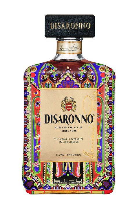 "<p>The limited edition Disarrono x Etro collaboration is a definite *get* for your bar cart. (Pssst…the fashion designer collaboration is also available in six mini-bottles, packaged as 3-packs. Stocking stuffer, anyone?)</p>  <p>$28; <a href=""http://www.disaronno.com/events/disaronno-wears-etro/"" target=""_blank"" data-tracking-id=""recirc-text-link"">disaronno.com</a></p>"