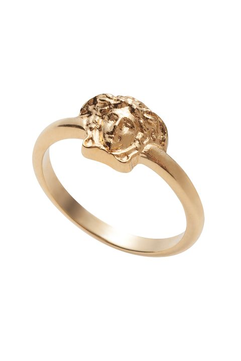 "<p>The gold-tone metal ring features the high-fashion brand's famous logo, the head of Medusa. Chic <em data-verified=""redactor"" data-redactor-tag=""em"">and</em> recognizable. Need we say more? </p>  <p>Medusa Ring, $95; <a href=""http://www.matchesfashion.com/us/products/1066524"" target=""_blank"" data-tracking-id=""recirc-text-link"">matchesfashion.com</a></p>"