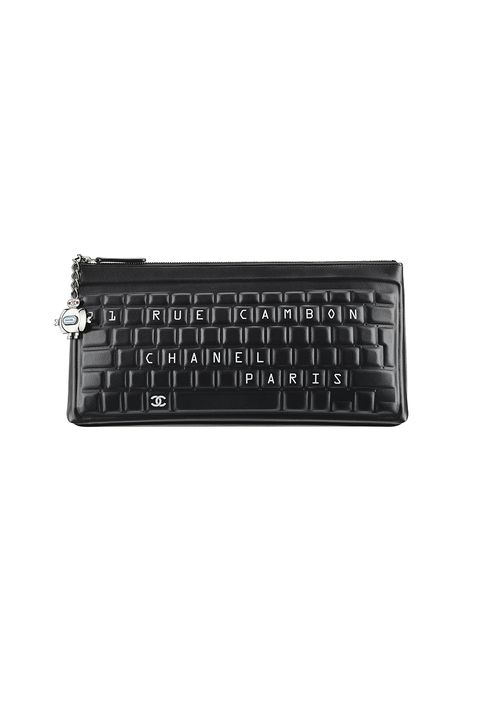 "<p>Who says work can't be fun? Certainly not Karl, with this keyboard-inspired clutch made for the work week <em data-redactor-tag=""em"">and </em><span class=""redactor-invisible-space"" data-verified=""redactor"" data-redactor-tag=""span"" data-redactor-class=""redactor-invisible-space"" style=""background-color: initial;"" rel=""background-color: initial;"" data-redactor-style=""background-color: initial;"">weekend.</span><br></p><p><span class=""redactor-invisible-space"" data-verified=""redactor"" data-redactor-tag=""span"" data-redactor-class=""redactor-invisible-space"">Coming soon to <a href=""http://www.chanel.com/en_US/"" data-tracking-id=""recirc-text-link"">Chanel</a>.</span></p>"