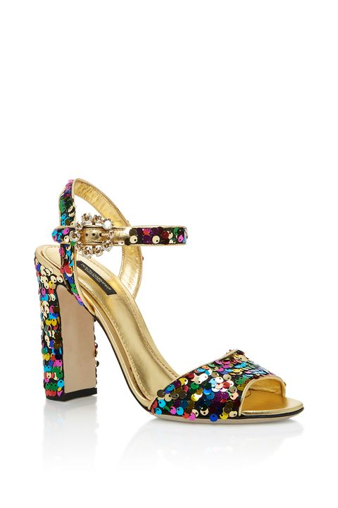 "<p>Because every must have holiday party shoe should come wrapped in sequins and gold. </p><p>$945,&nbsp;<a href=""https://www.modaoperandi.com/dolce-gabbana-ss17/sequin-pumps"" data-tracking-id=""recirc-text-link"">modaoperandi.com</a>.</p>"