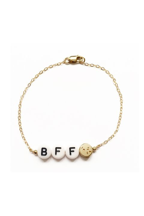 "<p>Customizable, so you could get an inside joke or a pet name or something unmentionable like I did. </p>  <p>$58, <a href=""http://www.shopryanporter.com/ryan-porter-alphabet-bead-bracelets-shop-jewelry/emoji-custom"" target=""_blank"" data-tracking-id=""recirc-text-link"">shopryanporter.com</a>.</p>"