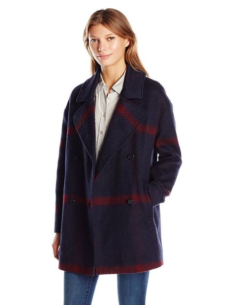 "<p>For pretending you come from&nbsp;the kind of family that plays touch football after Thanksgiving instead of lying around like beached whales.</p><p>$127, <a href=""https://www.amazon.com/Tommy-Hilfiger-Womens-Breased-Oversized/dp/B01IVQKOOG"" target=""_blank"" data-tracking-id=""recirc-text-link"">amazon.com</a>.</p>"
