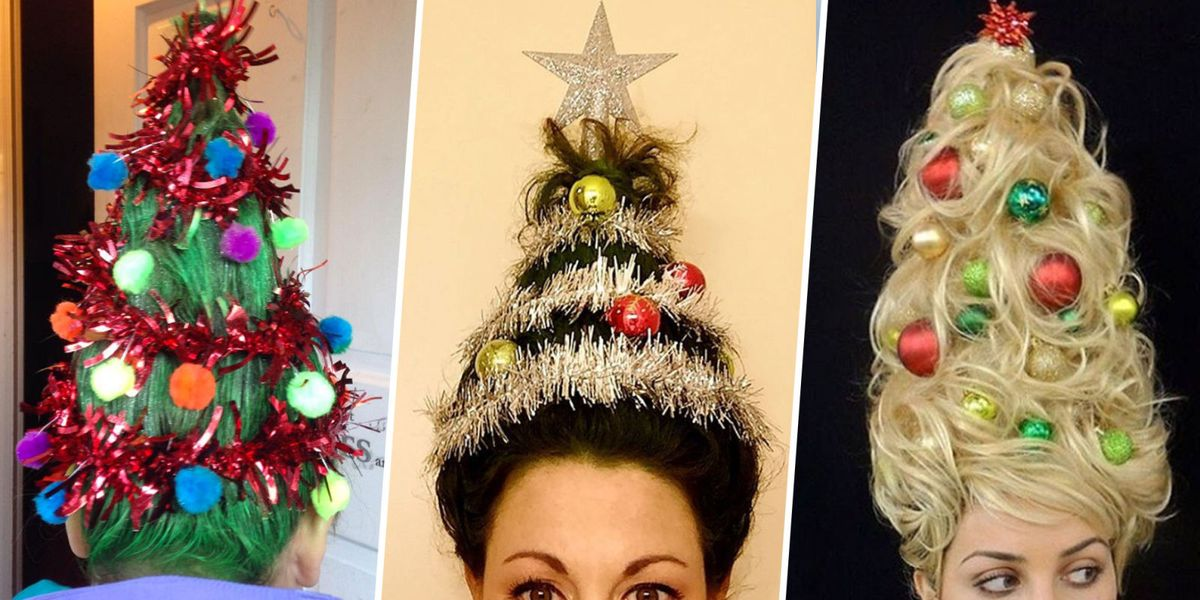 The Christmas Tree Hair Trend Is Festive Af