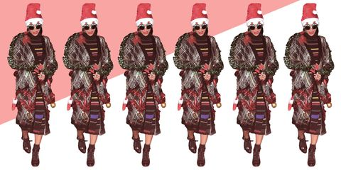 Textile, Red, Pattern, Winter, Headgear, Maroon, Magenta, Holiday, Tradition, Costume design,