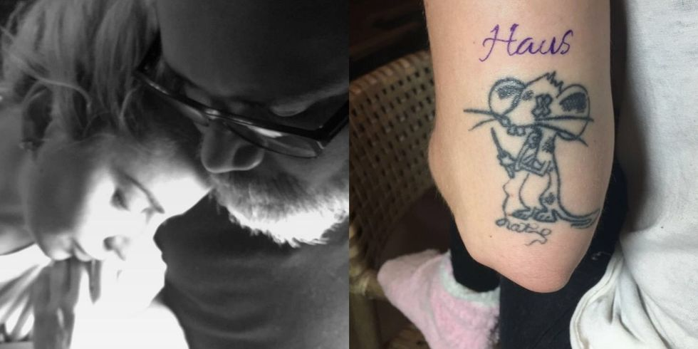 "Lady Gaga In celebration of the 10-year anniversary of  the creative team who helped create Lady Gaga's avant-garde style, Haus of Gaga, Mother Monster took to Snapchat to reveal a new tattoo. Dedicated to the special group of artists, the tattoo reads ""Haus"" on the back of her arm."