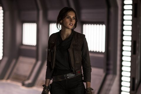 "<p>Some critics said <em data-redactor-tag=""em"" data-verified=""redactor"">Rogue One</em> lacked a strong male lead. We are not those critics, because who run the world? Girls.&nbsp;The latest installment of everyone's favorite never-ending franchise was a huge feminist win thanks to Jyn Erso, and&nbsp;we applaud Lucasfilms for realizing that heroines are just as capable of kicking intergalactic butt as their male counterparts. Read our full review <a href=""http://www.marieclaire.com/culture/news/a24184/rogue-one-a-star-wars-story-review/"" target=""_blank"" data-tracking-id=""recirc-text-link"">here</a> for more girl power vibes.&nbsp;</p>"