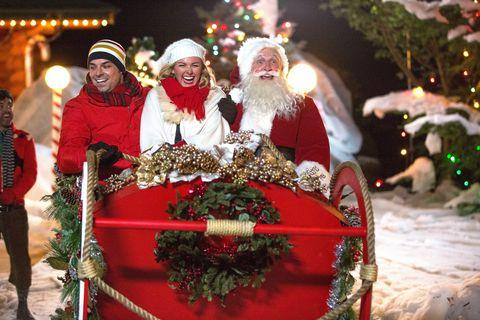 Winter, Lighting, Facial hair, Event, Christmas decoration, Hat, Tradition, Beard, Santa claus, Holiday,