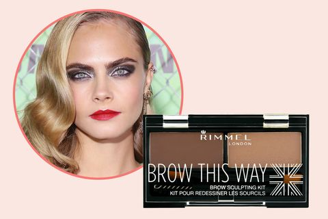 "<p>If we're going to trust any celebrity with our precious arches, it's Cara. Her go-to palette comes with a tinted wax to fill and shape, as well as a lightweight powder to set for all-day wear.<span class=""redactor-invisible-space"" data-verified=""redactor"" data-redactor-tag=""span"" data-redactor-class=""redactor-invisible-space""></span></p><p>Rimmel Brow This Way Sculpting Kit, $4.49; <a href=""http://bit.ly/2i8dQRt"" target=""_blank"" data-tracking-id=""recirc-text-link"">ulta.com</a>.<span class=""redactor-invisible-space"" data-verified=""redactor"" data-redactor-tag=""span"" data-redactor-class=""redactor-invisible-space""></span><br></p>"
