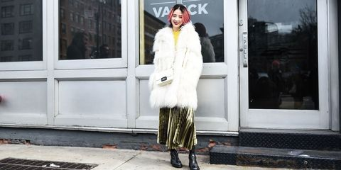 Clothing, Outerwear, Style, Street fashion, Winter, Fixture, Jacket, Fur clothing, Fur, Door,