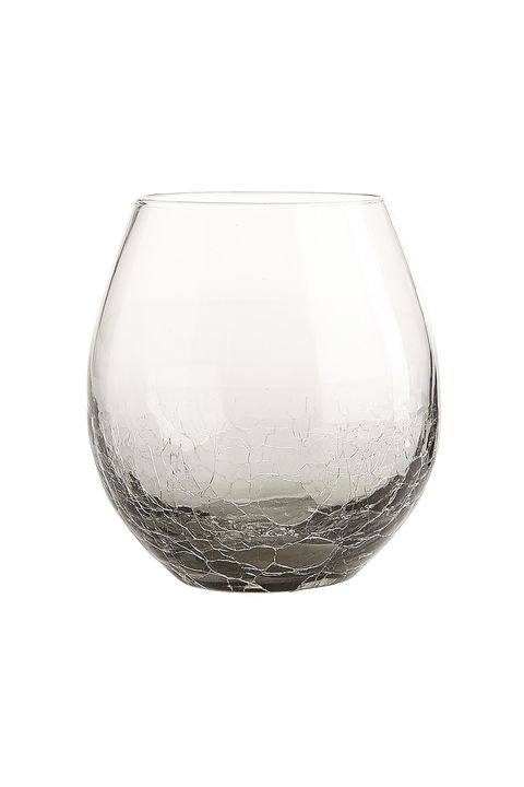 "<p>Matching set&nbsp;= you got it together, girl.&nbsp;</p><p>Pier 1 Crackle Smoke Stemless Wine Glass, $5; <a href=""http://www.pier1.com/crackle-smoke-stemware/PS51494.html"" target=""_blank"" data-tracking-id=""recirc-text-link"">pier1.com</a></p>"