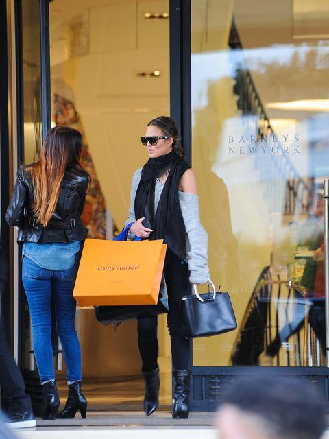 Chrissy Teigen shopping