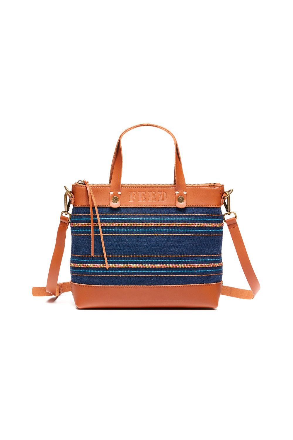 "<p>Started by Lauren Bush Lauren in 2007, FEED creates beautiful bags, accessories, and shirts that provide nutritious meals to those in need. It also works under fair-labor conditions, using environmentally friendly materials when possible, and alongside artisans in different countries to provide livelihood to underserved populations. Most items come stamped with a number—showing you just how many meals your purchase has provided. </p><p><a href=""https://www.feedprojects.com/bags/new-arrivals/eleanor-crossbody "" target=""_blank"" data-tracking-id=""recirc-text-link"">Shop the brand</a>.</p>"