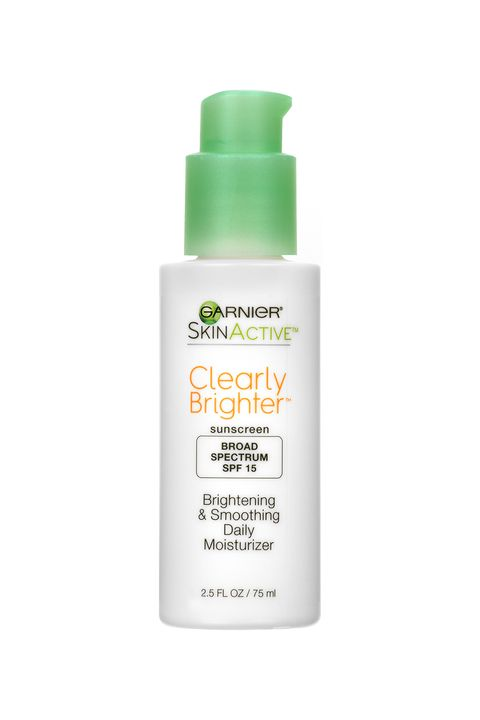 "<p>Another great moisturizer to have in stock if you're treating&nbsp;hyper-pigmentation is Garnier's new&nbsp;formula that uses Vitamin C to brighten skin. It contains gentle exfoliants, too, that make it easy to&nbsp;scrub off&nbsp;dead skin until you're soft as baby.&nbsp;</p><p><strong data-redactor-tag=""strong"" data-verified=""redactor"">$15; <a href=""http://www.ulta.com/skinactive-clearly-brighter-brightening-smoothing-daily-moisturizer-spf-15?productId=xlsImpprod13762437"" target=""_blank"" data-tracking-id=""recirc-text-link"">ulta.com</a>.</strong></p>"