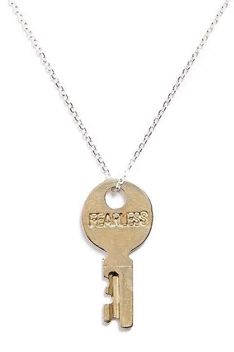 "<p>A ""pay it forward"" company, The Giving Keys employs those transitioning out of homelessness with the help fo their partner Chrysalis, a non-profit organization dedicated to creating a pathway to self-sufficiency for homeless and low-income individuals. The jewelry brand centers around keys with powerful words of inspiration, and is a perfect gift all around. </p><p><a href=""https://www.thegivingkeys.com/collections/fearless/products/dainty-pendant?variant=250396360 "" target=""_blank"" data-tracking-id=""recirc-text-link"">Shop the brand</a>.</p>"