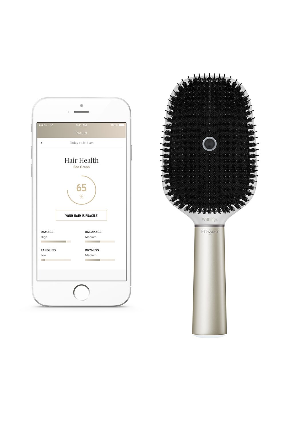 "<p><a href=""http://www.marieclaire.com/beauty/news/a24568/loreal-smart-brush/"" target=""_blank"" data-tracking-id=""recirc-text-link"">This brush</a> comes loaded with a microphone, 3-axis load cells, an accelerometer, a gyroscope, and conductivity sensors. Why? Because it's about time our hairbrushes do more than just, you know, brush. This one will give you insight into your strands' quality and brushing habits while recommending tips and products that'll up your hair game. Yep. That's one smart brush. </p><p>Under $200, coming soon to <a href=""http://www.kerastase-usa.com/"" data-tracking-id=""recirc-text-link"">Kérastase</a> <span class=""redactor-invisible-space"" data-verified=""redactor"" data-redactor-tag=""span"" data-redactor-class=""redactor-invisible-space"">and <a href=""http://www.withings.com/us/en/"" data-tracking-id=""recirc-text-link"">Withings</a></span></p>"
