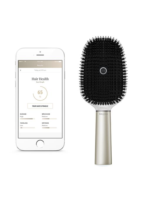 "<p><a href=""http://www.marieclaire.com/beauty/news/a24568/loreal-smart-brush/"" target=""_blank"" data-tracking-id=""recirc-text-link"">This brush</a> comes loaded with a microphone, 3-axis load cells, an accelerometer, a gyroscope, and conductivity sensors. Why? Because it's about time our hairbrushes&nbsp;do&nbsp;more than just, you know, brush. This one will give you insight into your strands' quality and brushing&nbsp;habits while recommending tips and products that'll up your hair game. Yep. That's one smart brush. </p><p>Under $200, coming soon to&nbsp;<a href=""http://www.kerastase-usa.com/"" data-tracking-id=""recirc-text-link"">Kérastase</a>&nbsp;<span class=""redactor-invisible-space"" data-verified=""redactor"" data-redactor-tag=""span"" data-redactor-class=""redactor-invisible-space"">and <a href=""http://www.withings.com/us/en/"" data-tracking-id=""recirc-text-link"">Withings</a></span></p>"