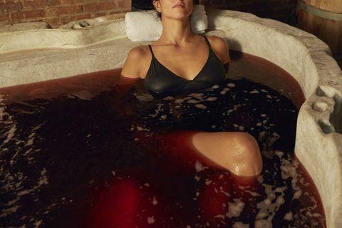 Red Wine Spa Treatment Red Wine Bath Soak Manhattan