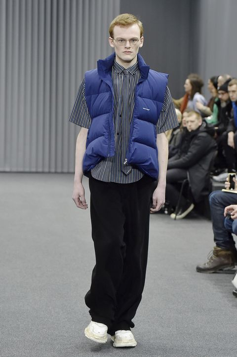 <p>The whole collection was a love letter to Bernie Sanders, and while the slogan-scarf thing will get the most airtime, we're partial to wearing a puffy vest as a campaign-trail nerd (as opposed to with yoga pants and a PSL in hand). </p>