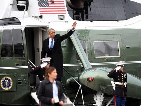 obama leaves white house